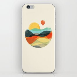 Let the world be your guide iPhone Skin