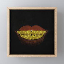 Gold Teeth Finesse Framed Mini Art Print
