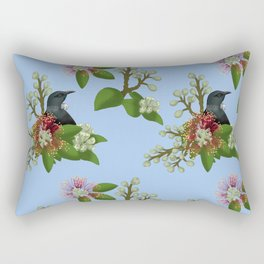 Tui in Pohutukawa Flowers Rectangular Pillow
