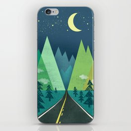 The Long Road at Night iPhone Skin