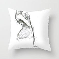 Lady-1 Throw Pillow