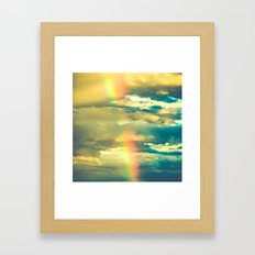 Rainbow Clouds in a Blue Sky Framed Art Print