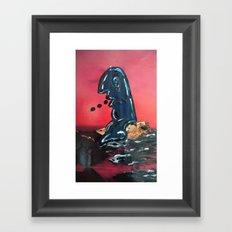 Murray Learns to Swim  Framed Art Print