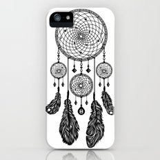 Dreamcatcher (Black & White) Slim Case iPhone (5, 5s)