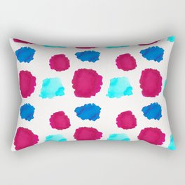 Watercolor Swashes Pattern Rectangular Pillow