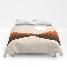Desert Dusk Ravine Comforters