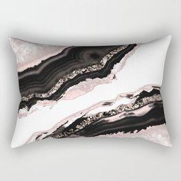 Agate Glitter Glam #4 #gem #decor #art #society6 Rectangular Pillow