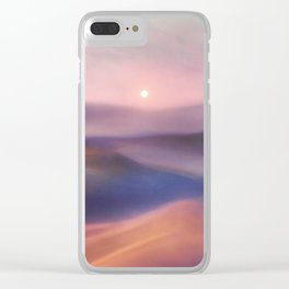 Minimal abstract landscape II Clear iPhone Case