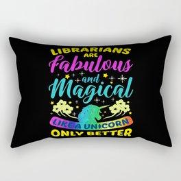 Librarians Are Fabulous Book Lover Gift Rectangular Pillow