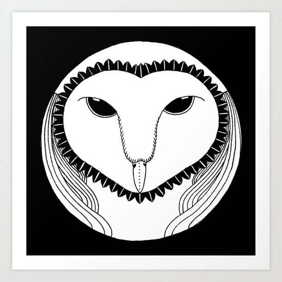 Oowll Art Print