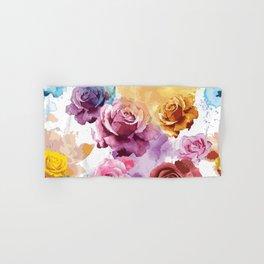 Watercolor Roses Hand & Bath Towel