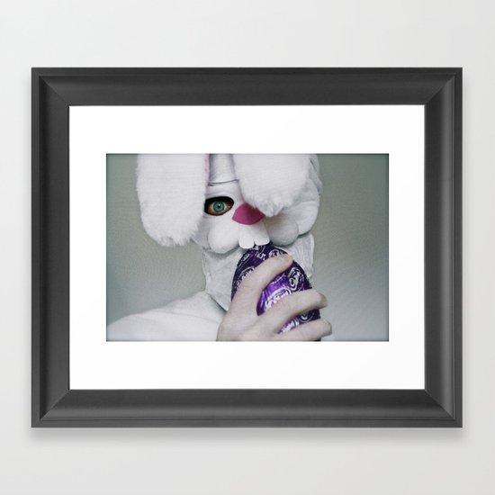 I Will Eat Your Soul (Happy Easter) Framed Art Print
