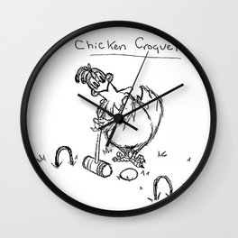 Chicken Croquette Wall Clock