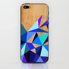 Wooden Geo Blue iPhone & iPod Skin