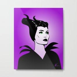 Maleficent | Pop Art Metal Print