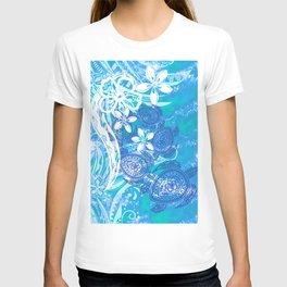 Samoan Tribal Turtle Ocean Spray T-shirt