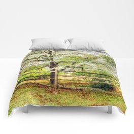 Dogwoods and Red Birds Comforters