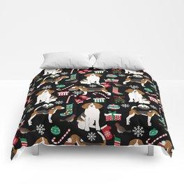 Beagle christmas gift wrap pillow phone case cute beagle dog design Comforters
