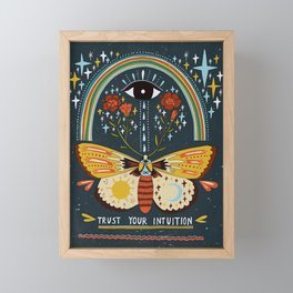 Trust your intuition Framed Mini Art Print