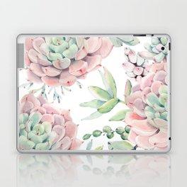 Pink Succulents by Nature Magick Laptop & iPad Skin