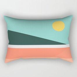 Geometric Landscape 15 Rectangular Pillow