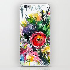 watercolor colorful bouquet with red rose iPhone & iPod Skin