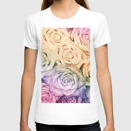 Some people grumble - Colorful Roses - Rose pattern T-shirt
