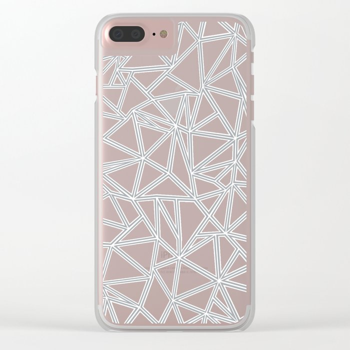 Shattered Ab Grey and White Clear iPhone Case