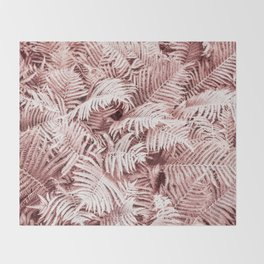 Fern Bush Blush Pink | Bedroom Art Throw Blanket