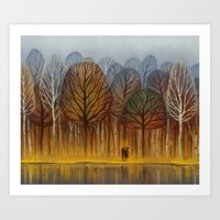 Art Prints featuring autumn by loish