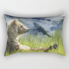 A Little Bear Dreams of Sweet Tomorrows Rectangular Pillow
