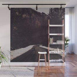 Foggy Forest Road - Lets Get Wild Nature Photography Wall Mural