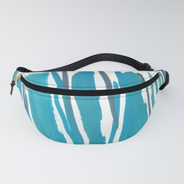 2  |  190408 Blue Abstract Watercolour Fanny Pack