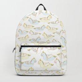 Sleepy lazy cats in unicorn floaties Backpack