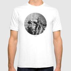 Lavender (Black & White) MEDIUM White Mens Fitted Tee