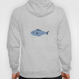 Cute blue sea fish Hoody