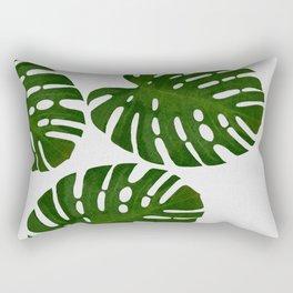 Monstera Leaf III Rectangular Pillow