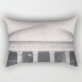 The Pantheon, fine art print, black & white photo, Rome photography, Italy lover, Roman history Rectangular Pillow