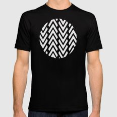 Chevron Tracks Black X-LARGE Mens Fitted Tee