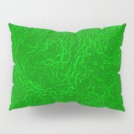 Neon Green Alien DNA Plasma Swirl Pillow Sham