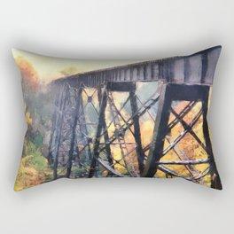 Upper Peninsula Train Trestle Rectangular Pillow