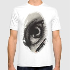 3 Pencils. 1 Hour 10 Minutes Drawing an Eye MEDIUM Mens Fitted Tee White