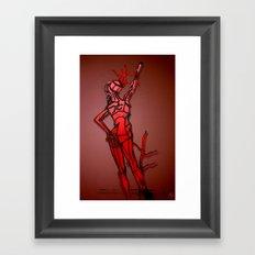 Drawing of Sculpture @ Dali Exhibit - Hommage a Terpsichore - Galleria di Piazza Colonna - Roma Framed Art Print