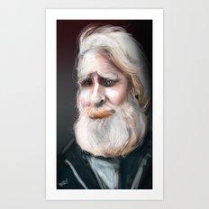 The Sad Captain Art Print