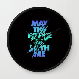Jedi Mantra - May the Force be with you Wall Clock