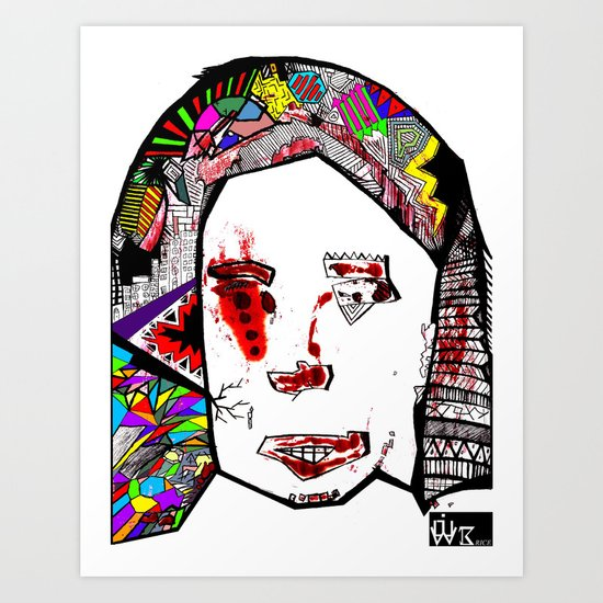The Female Face  Art Print