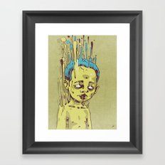 The Golden Boy with Blue Hair Framed Art Print