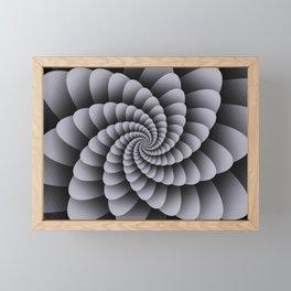 Pantone Lilac Gray Nautical Swirl Digital Design - Nautilus Swirl Framed Mini Art Print