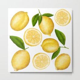 Luscious Lemon Pattern Metal Print