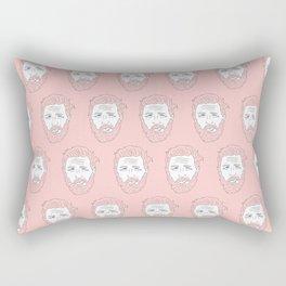 Pink yet still Hardy Rectangular Pillow